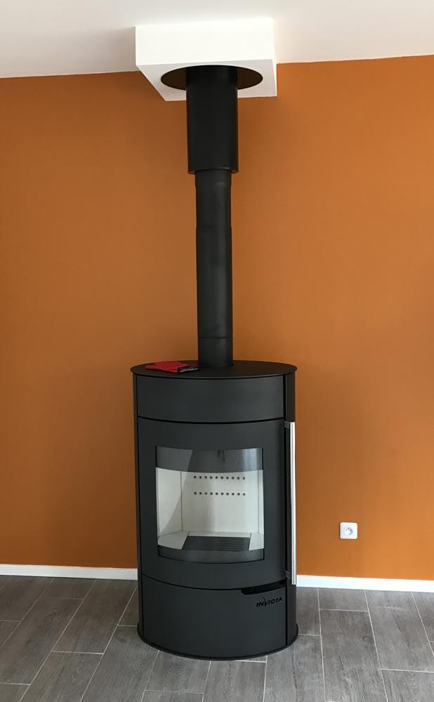 Po le bois b ches bcv thermique chauffage plomberie for Socle pour poele a bois