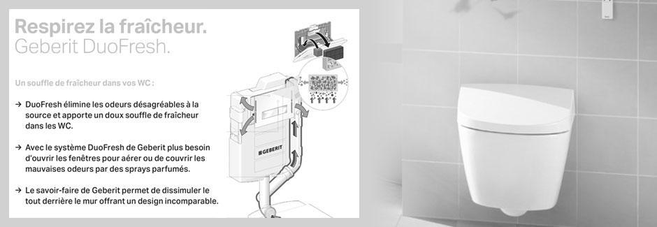 Solution DuoFresh : Aspiration et filtration de odeurs